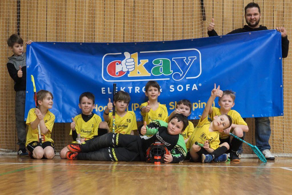 Florbal Hodonín - foto by Fana Král, fotogfaf Florbal Hodonín - vítězný tým na turnaji přípravek v Hodoníně - hráli jsme Okay
